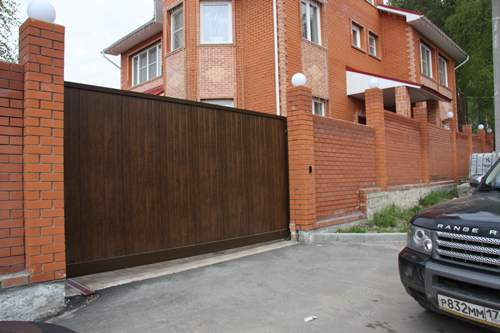 Готовые откатные ворота